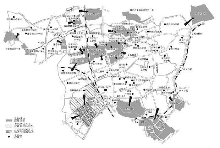 新宿区避難場所地図 | 新宿区外...